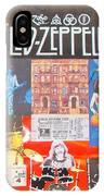 Led Zeppelin Color Collage IPhone Case