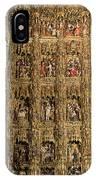 Left Half - The Golden Retablo Mayor - Cathedral Of Seville - Seville Spain IPhone Case
