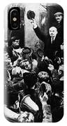 Lenin At Finland Station IPhone Case