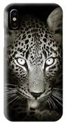 Leopard Portrait In The Dark IPhone Case