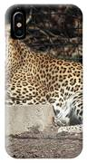 Leopard Relaxing IPhone Case