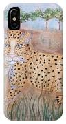 Leopard With Cub IPhone Case