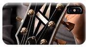 Les Paul - Hands And Gibson Headstock By Gene Martin IPhone Case