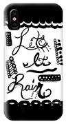 Let It Rain IPhone X Case