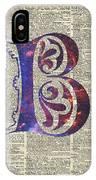 Letter B Monogram IPhone Case