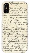Letter From Abraham Lincoln To Alden IPhone Case