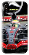 Lewis Hamilton, Mclaren- Mercedes Mp4-22 IPhone Case