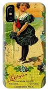 Libbys Bookmark Vintage With Girl On Beach IPhone Case