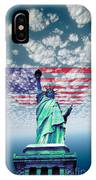 Liberty And Flag IPhone Case