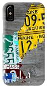 License Plate Map Of New England States IPhone Case