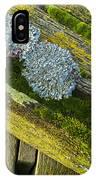Lichen On Wood. IPhone Case