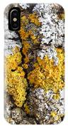 Lichens On Tree Bark IPhone Case