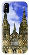 Lichfield Cathedral - The West Front IPhone Case