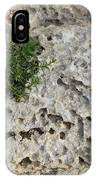 Life On Bare Rock - Pockmarked Limestone And Thyme IPhone Case