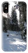 Light And Shadow On A Snowy Landscape IPhone Case
