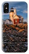 Light At Pemaquid Point IPhone Case