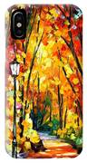 Light Of The Forest - Palette Knife Oil Painting On Canvas By Leonid Afremov IPhone Case