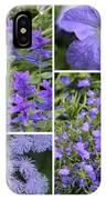 Light Purple Flowers Collage IPhone Case
