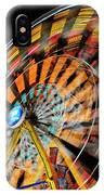 Light Streaks From The Spinning Ferris Wheel And Swing At Night  IPhone Case