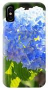 Light Through Blue Hydrangeas IPhone Case