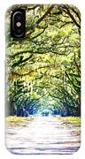 Light Through Live Oak Lane IPhone Case