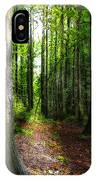 Light Through The Trees IPhone Case