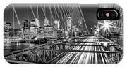 Light Trails Of Manhattan IPhone Case