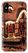 Lighted Christmas House  IPhone Case