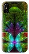 Lighted Flower Fractal IPhone Case