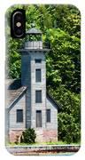 Lighthouse Munising Bay IPhone Case