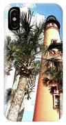 Lighthouse Palms IPhone Case