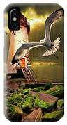 Lighthouse With Seagulls IPhone X Case