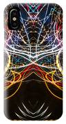 Lightpainting Symmetry Wall Art Print Photograph 1 IPhone Case