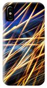 Lightpainting Triptych Wall Art Print Photograph 6 IPhone Case