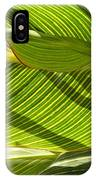 Lightplay Through The Leaves 3 IPhone Case
