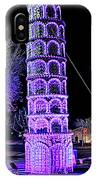 Lights Of The World Leaning Tower Of Pisa IPhone Case