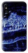 Lights On The Farm's Pond At Night IPhone Case