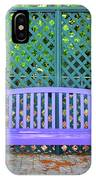 Lilac And Teal Garden IPhone Case