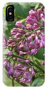 Lilac Buds Cluster IPhone Case