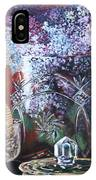 Lilacs And Candles IPhone Case