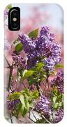 Lilacs And Dogwoods IPhone Case