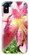 Lilies Art Prints Pink Lily Flowers 2 Giclee Prints Baslee Troutman IPhone Case