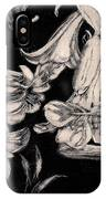 Lilies Black And White II IPhone X Case