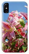 Lilies Pink Lily Flowers Art Prints Floral Summer Garden Baslee Troutman IPhone Case