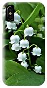 Lilly Of The Valley Flowers IPhone Case by Jeremy Hayden