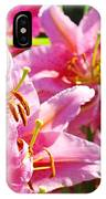 Lily Garden Floral Art Prints Pink Lilies Baslee Troutman IPhone Case