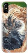 Lily, Soft Coated Wheaten Puppy IPhone Case