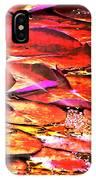 Crimson Lilypads Floating.. IPhone Case