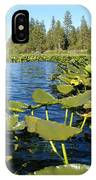 Lilypads On Amber Lake IPhone Case