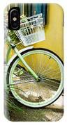 Lime Green Bike IPhone Case